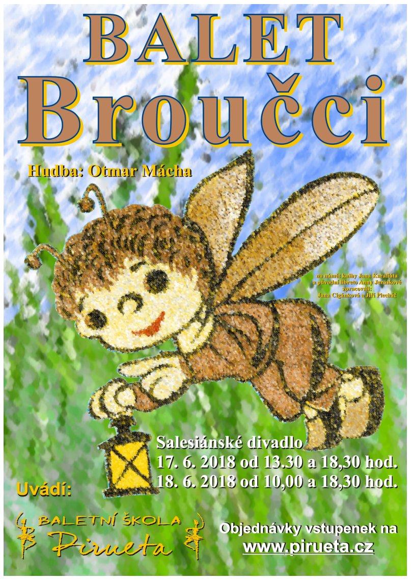 Plakát balet Broučci